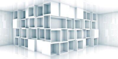 Carta da parati Estratto vuoto 3d sala interna con cabinet in un angolo