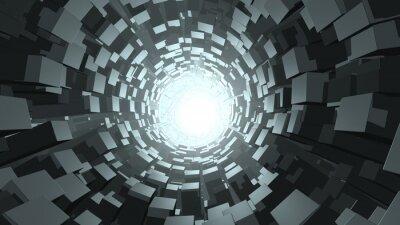 Carta da parati Estratto wormhole cube