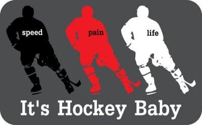 Carta da parati Etichetta Hockey