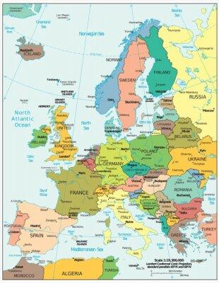 Carta da parati Europe political divisions