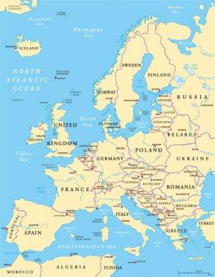 Carta da parati Europe Political Map