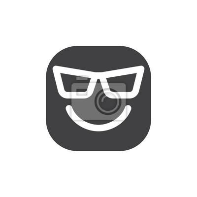 scarpe sportive 54269 06643 Carta da parati: Faccia sorridente con gli occhiali da sole, emoji freddi.  icona
