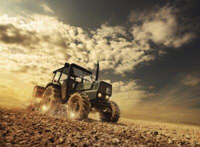 Carta da parati Farmer nei settori guida di un trattore
