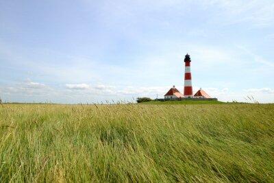 Carta da parati Faro di Westerhever - Mare del Nord