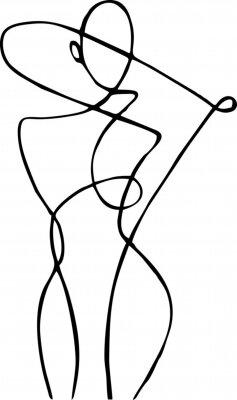 Carta da parati Female figure, drawn in one line