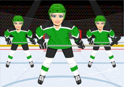 Carta da parati femminile di ghiaccio squadra di hockey