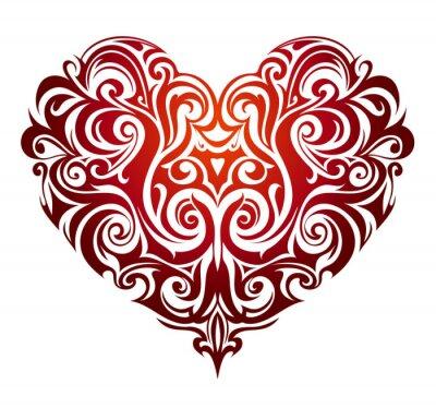 Carta da parati Figura del cuore ornamento