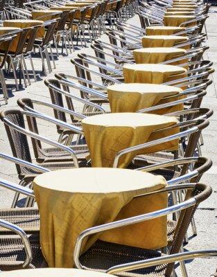 Carta da parati file di sedie