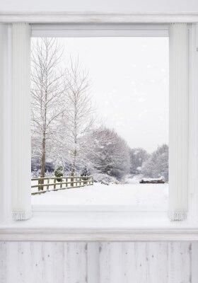 Carta da parati finestra invernale