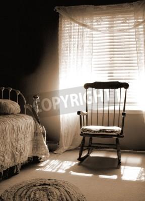 Finestra lightroom di toni seppia vecchio stile camera da letto ...