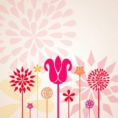 Carta da parati Fiori decorativi