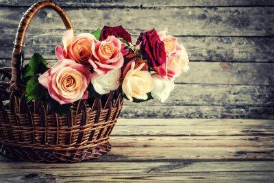 Carta da parati fiori di rosa bella