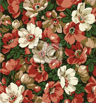 Fiori Motivo Floreale Classic Bellissimi Fiori Rosa Vintage Carta