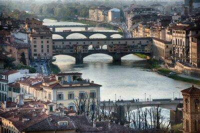 Carta da parati Firenze Ponte Vecchio vista del tramonto