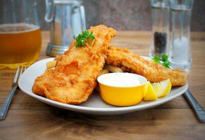 Carta da parati Fish and chips