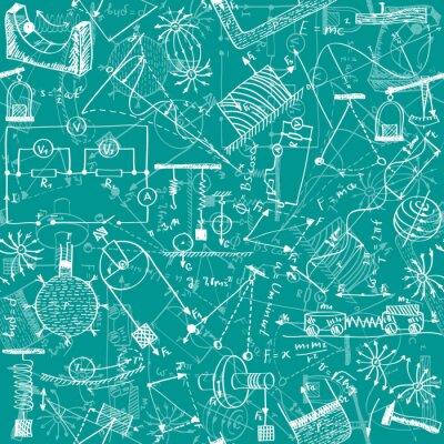Carta da parati Fisica seamless pattern