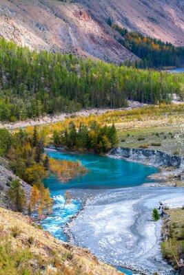 Carta da parati fiume azzurro in montagna