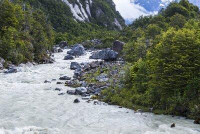 Carta da parati fiume Exploradores, Cile
