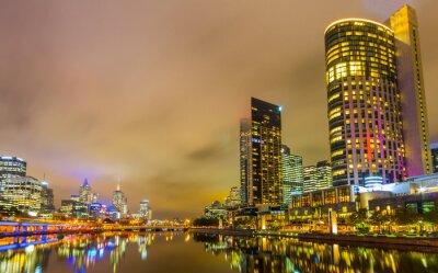 Carta da parati Fiume Yarra e Melbourne orizzonte.