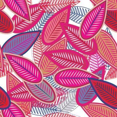 Carta da parati foglie di rosa
