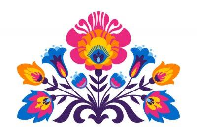 Carta da parati folcloristici ispirati fiori polacchi