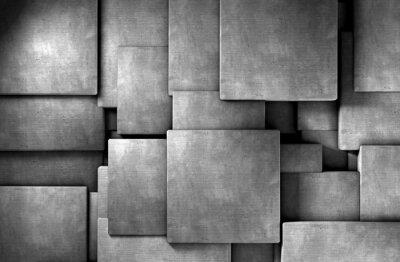 Carta da parati Fondo abstracto 3d, bloques de cemento
