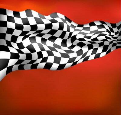 Carta da parati fondo corsa bandiera a scacchi wawing