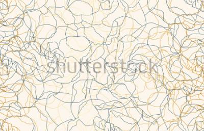 Carta da parati Fondo d'annata senza cuciture stampabile del modello di ripetizione di scarabocchio. Carta da parati, illustrazione di raster in altissima risoluzione.