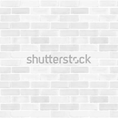 Carta da parati Fondo grigio bianco di struttura del modello di colore del muro di mattoni senza cuciture