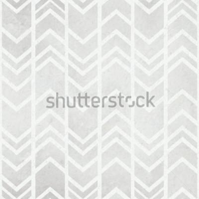 Carta da parati Fondo senza tessuto dell'acquerello con il modello grigio dell'acquerello del ikat tribale