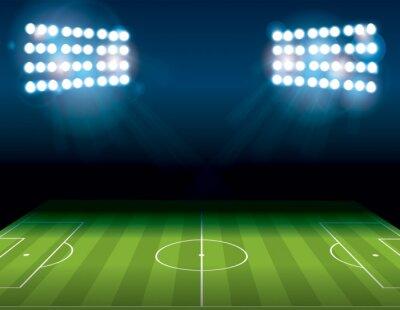 Carta da parati Football americano Campo da calcio Illuminato Illustrazione