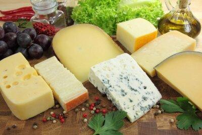 Carta da parati formaggi a pasta dura.