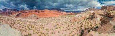 Carta da parati formazioni rocciose colorate in Quebrada de Cafayate, Argentina