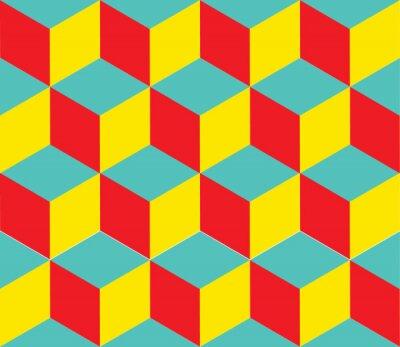 Carta da parati Forme Cube. Illusione Ottica