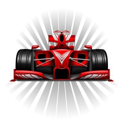 Carta da parati Formula 1 Car Red Racing