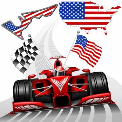 Carta da parati Formula 1 Race Car GP Austin Stati Uniti d'America