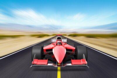 Carta da parati Formula race red car