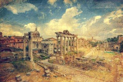 Carta da parati Foro Romano. Roma. Italia.