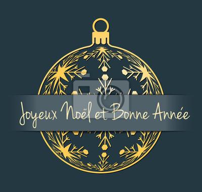 Auguri Di Buon Natale Francese.Carta Da Parati Francese Buon Natale E Biglietto Di Auguri Di Felice Anno Nuovo