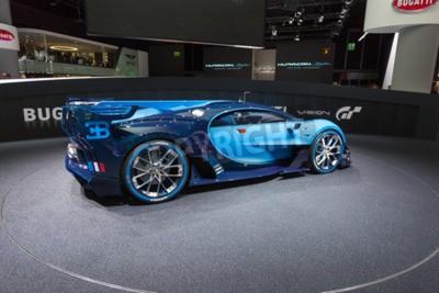 Carta da parati Francoforte, Deutschland - 15 Settembre, 2015: Bugatti Vision Gran Turismo Concept presentata al 66 ° Salone Internazionale dell'Automobile di Francoforte Messe