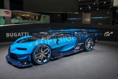 Carta da parati Francoforte, Germania - 16 settembre 2015: Francoforte internazionale Motor Show (IAA) 2015 Bugatti Vision Gran Turismo - prima mondiale.