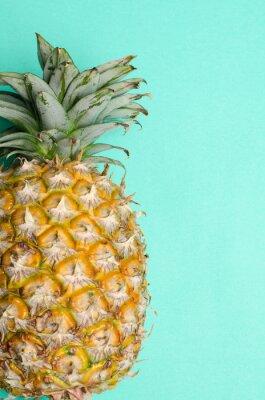 Carta da parati frutta Ananas su sfondo verde