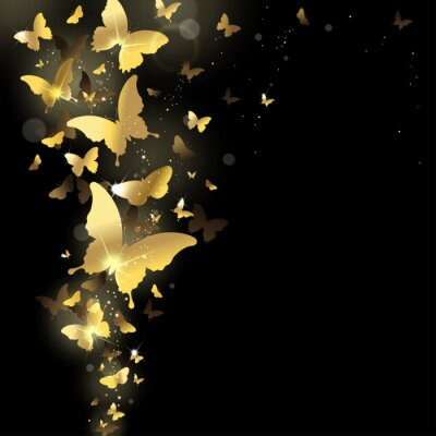 Carta da parati fuochi d'artificio di farfalle