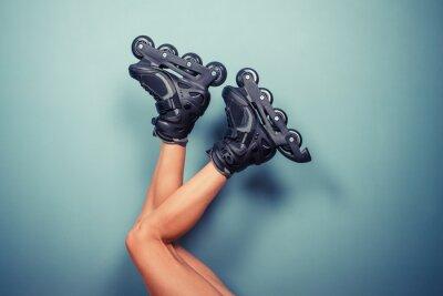 Carta da parati Gambe di donna che indossa pattini