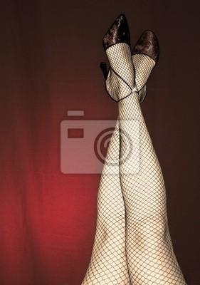 cad5e7a27b27 Carta da parati gambe sexy di una donna, con collant nero e nero ad alta