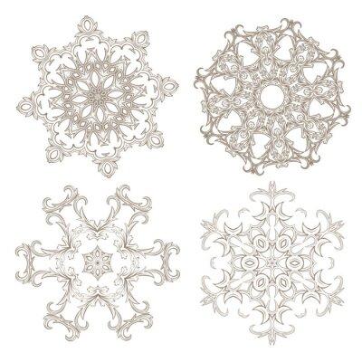 Carta da parati Geometrico set ornamento circolare.