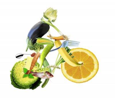 Carta da parati gesunde Ernährung und sport