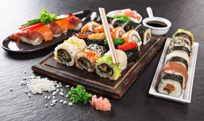Carta da parati Giapponese set seafood sushi