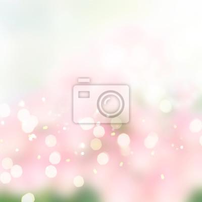 Giardino Sfondo Astratto Con Blu Sfumature Rosa E Luci Bokeh Carta