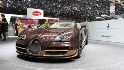 Carta da parati Ginevra, Svizzera - 2 Marzo 2014: 2014 Bugatti Veyron Rembrandt Bugatti ha presentato al 84 ° Salone Internazionale di Ginevra